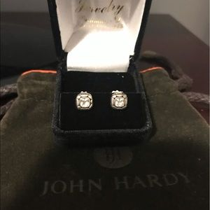 John Hardy Kali White Topaz Studs